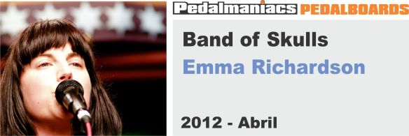 Emma Richardson-pedalboard-band-of-skulls