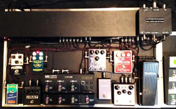 Jeff Schroeder of The Smashing Pumpkins Pedalboard